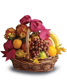 A harvest fruit basket for home or office.