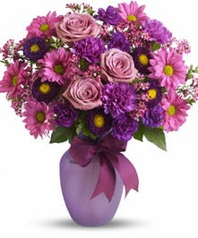 bold purples and lovely lavenders create this spring beauty!