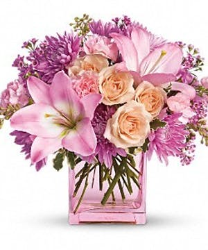 Delicate pinks, lavenders and peaches will bring warmth to the heart!