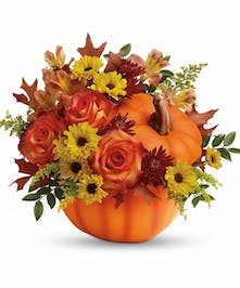 Warm Fall Wishes Floral Arrangement