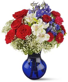 Red White and True - Floral Bouquet - Conklyn's Flowers