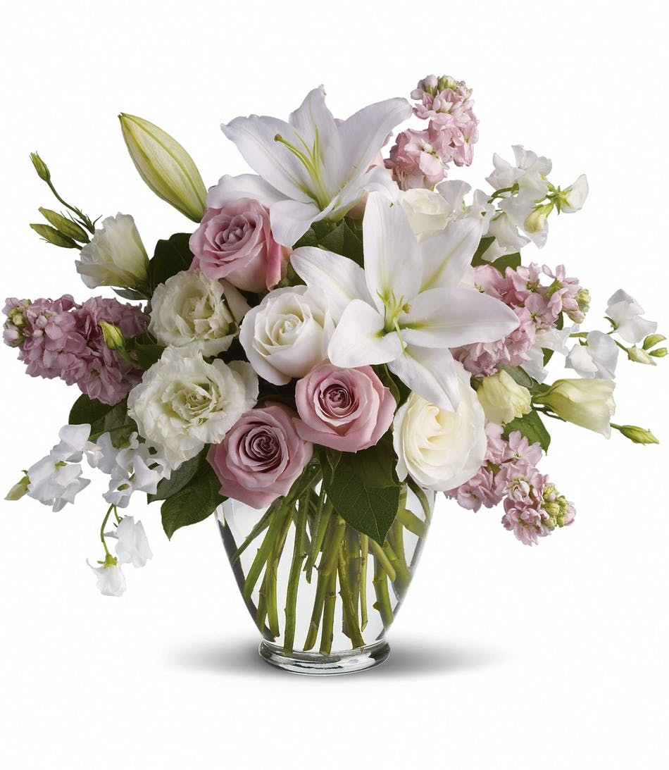 Serene Blooms Delicate Lavender And White Blooms Express An Elegant