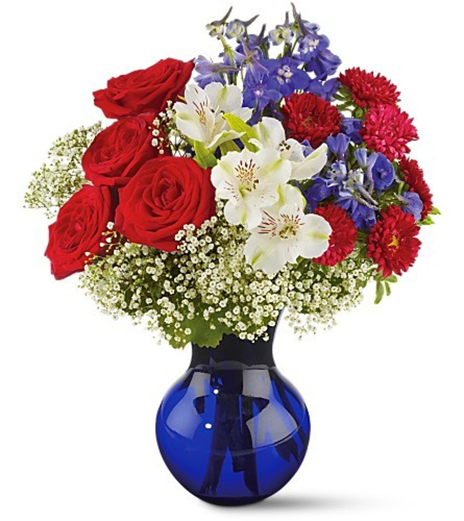 Red White And True Floral Bouquet Conklyns Flowers