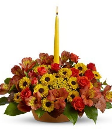 Fall Flowers Centerpieces