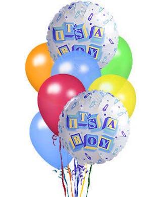 Its A Boy Balloon Bouquet